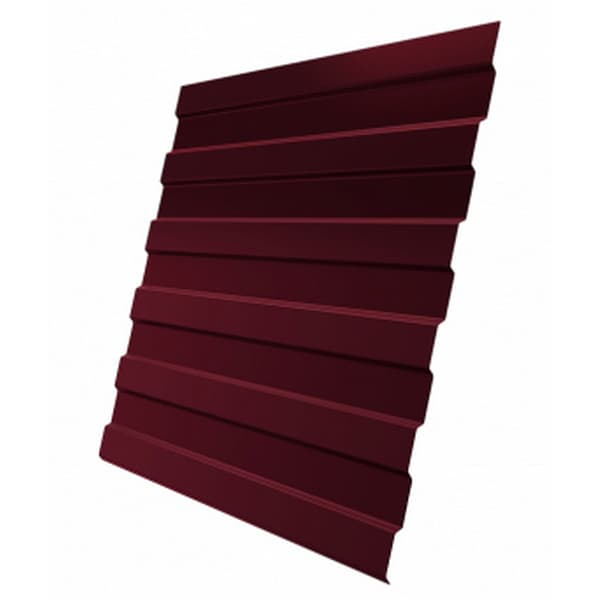 Профнастил С8 RAL 3005 винно-красный 0.65 мм