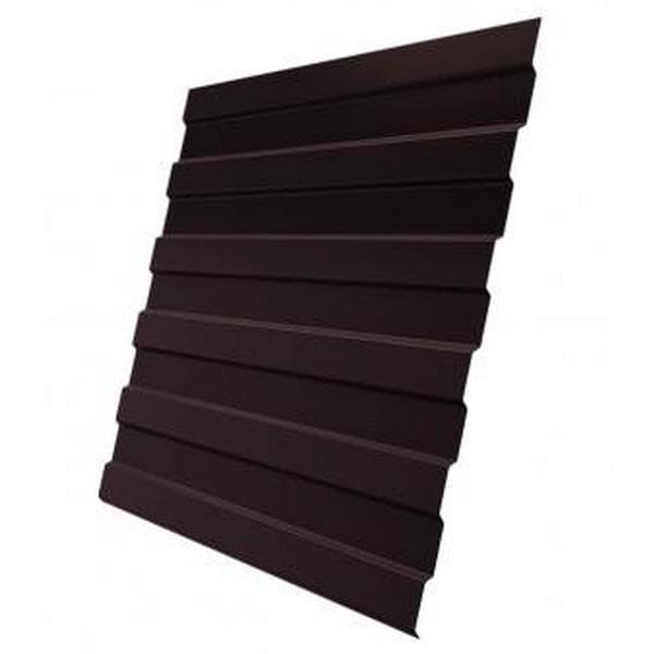 Профнастил С8 RAL 8017 шоколадно-коричневый эконом