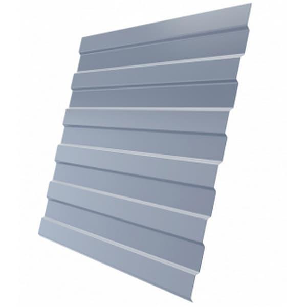 Профнастил С8 RAL 9006 бело-алюминиевый эконом